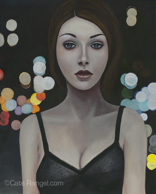 """Sweet Jane"""" : 11"""" x 14"""" : Acrylic on Panel : 2009"""